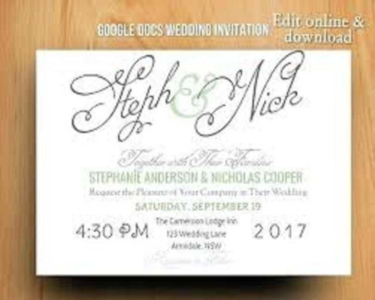 27 Adding Wedding Invitation Template Google Docs for Ms Word by Wedding Invitation Template Google Docs