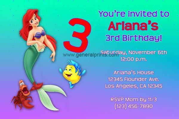 27 Blank Little Mermaid Blank Invitation Template in Photoshop by Little Mermaid Blank Invitation Template
