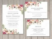 27 Create Floral Wedding Invitation Template in Photoshop with Floral Wedding Invitation Template