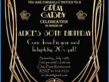 27 Creating Great Gatsby Party Invitation Template Free Layouts with Great Gatsby Party Invitation Template Free