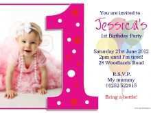 27 Free One Year Birthday Invitation Template With Stunning Design for One Year Birthday Invitation Template