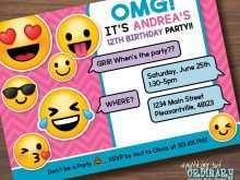 27 Printable Birthday Invitation Template Emoji in Photoshop for Birthday Invitation Template Emoji