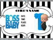 27 Report Boss Baby Birthday Invitation Template Formating with Boss Baby Birthday Invitation Template