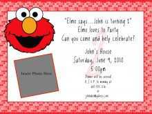 27 The Best Elmo Birthday Invitation Template For Free by Elmo Birthday Invitation Template