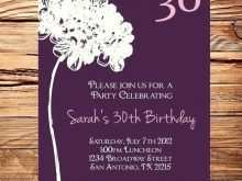 28 Best Invitation Card 30Th Birthday Example With Stunning Design with Invitation Card 30Th Birthday Example