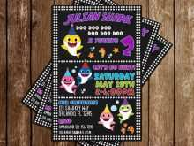 28 Customize Our Free Baby Shark Birthday Invitation Template With Stunning Design with Baby Shark Birthday Invitation Template
