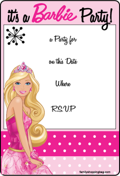 28 Free Birthday Invitation Barbie Template in Photoshop by Birthday Invitation Barbie Template