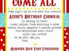 28 Free Printable Circus Birthday Invitation Template Free For Free by Circus Birthday Invitation Template Free
