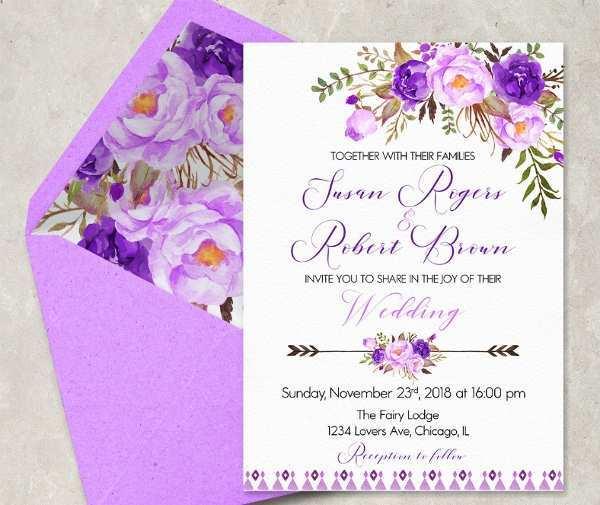 28 Online Wedding Invitation Templates Violet Maker for Wedding Invitation Templates Violet