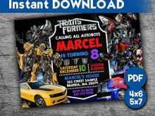 28 Standard Transformers Birthday Invitation Template With Stunning Design for Transformers Birthday Invitation Template
