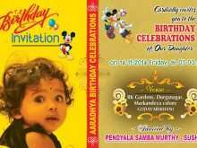 28 Visiting 1St Year Birthday Invitation Card Template for Ms Word with 1St Year Birthday Invitation Card Template