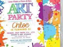 28 Visiting Art Party Invitation Template Free in Photoshop for Art Party Invitation Template Free
