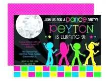 28 Visiting Dance Party Invitation Template Templates for Dance Party Invitation Template