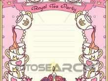 Royal Tea Party Invitation Template
