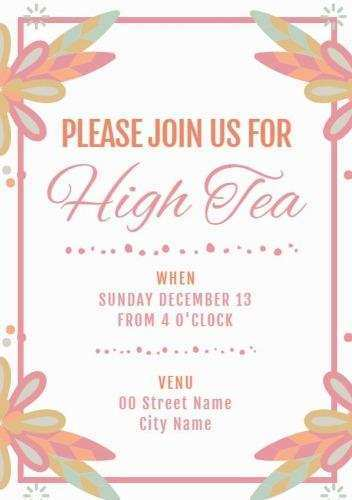 29 Best Afternoon Tea Party Invitation Template Layouts by Afternoon Tea Party Invitation Template