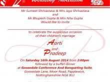 29 Create Hindu Wedding Invitation Template Download with Hindu Wedding Invitation Template
