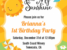 29 Customize You Are My Sunshine Birthday Invitation Template PSD File by You Are My Sunshine Birthday Invitation Template