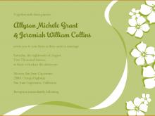 29 Free Printable Wedding Invitation Template Green Now for Wedding Invitation Template Green