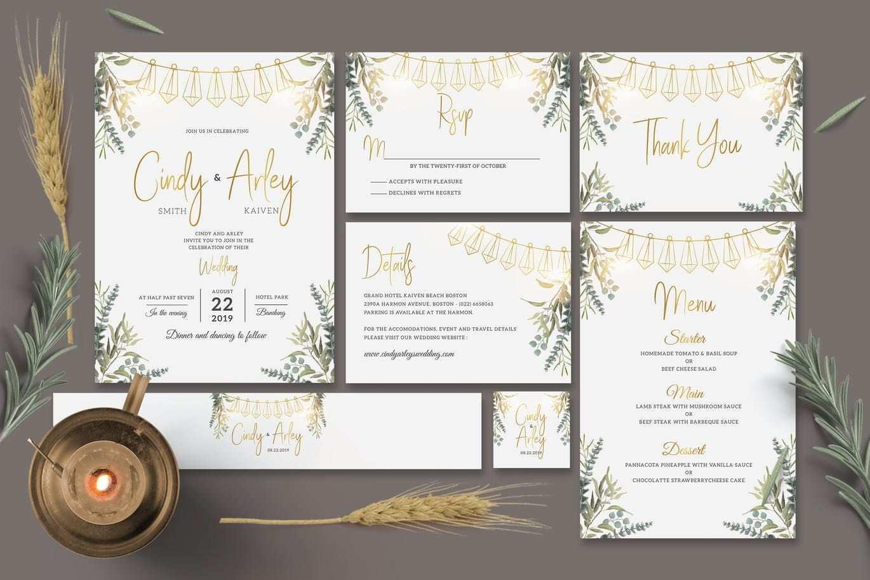 3 Free Wedding Invitation Template Envato in Photoshop for