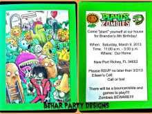29 Online Plants Vs Zombies Birthday Invitation Template in Word for Plants Vs Zombies Birthday Invitation Template