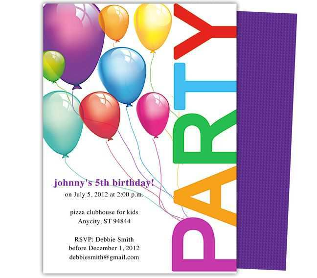 29 Printable Childrens Party Invitation Template in Photoshop for Childrens Party Invitation Template