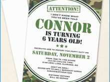 29 Visiting Camouflage Party Invitation Template For Free with Camouflage Party Invitation Template
