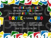 Uno Birthday Party Invitation Template