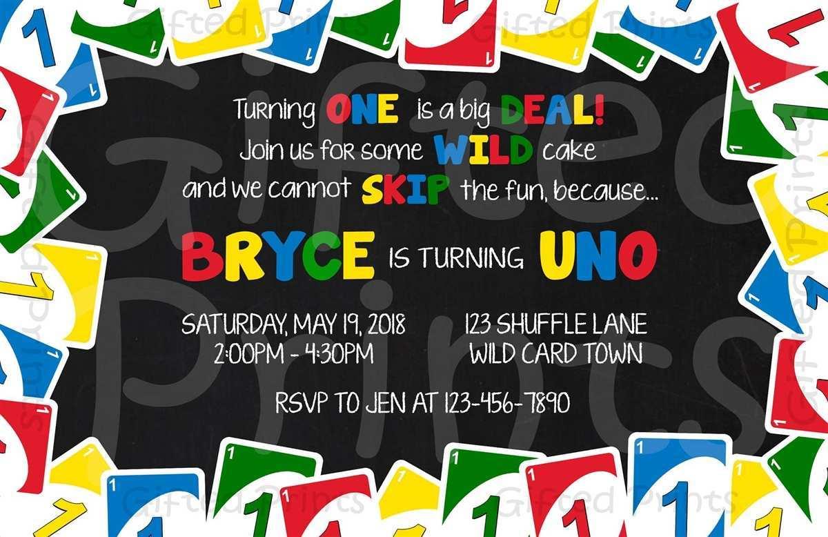 Uno Birthday Party Invitation Template - Cards Design Templates