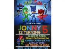 30 Creating Pj Mask Birthday Invitation Template With Stunning Design with Pj Mask Birthday Invitation Template