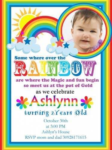 30 Creative Birthday Invitation Template Rainbow For Free by Birthday Invitation Template Rainbow