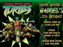 30 Report Ninja Turtle Birthday Invitation Template PSD File for Ninja Turtle Birthday Invitation Template