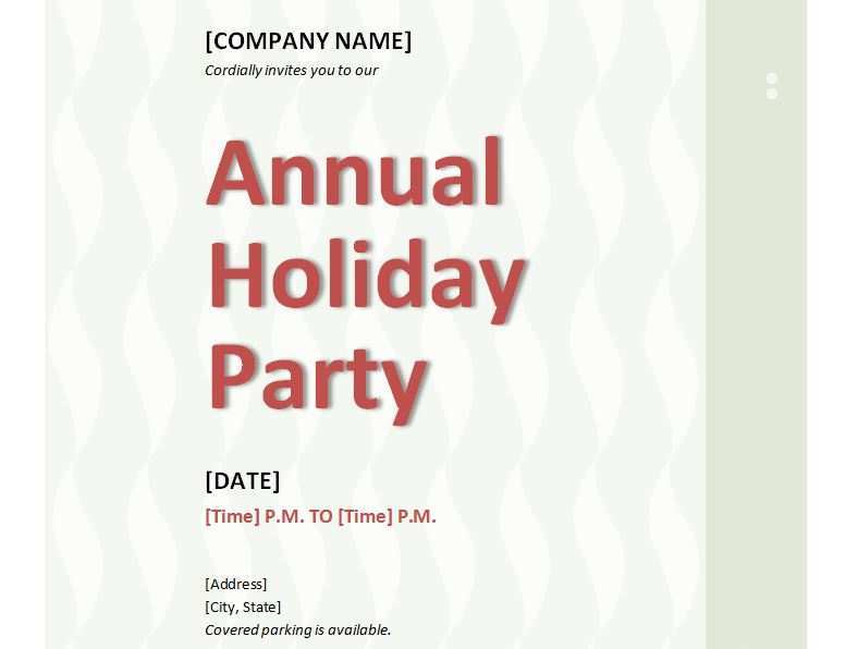 30 Standard Company Holiday Party Invitation Template in Photoshop by Company Holiday Party Invitation Template