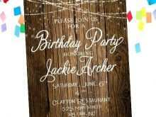 30 Standard Rustic Birthday Invitation Template For Free for Rustic Birthday Invitation Template