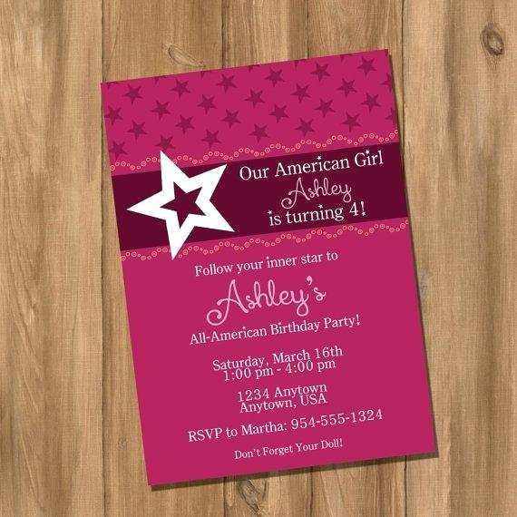 30 The Best American Girl Party Invitation Template Free in Photoshop by American Girl Party Invitation Template Free