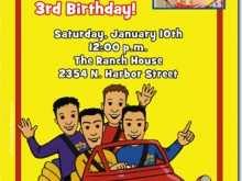 31 Adding Wiggles Birthday Invitation Template PSD File for Wiggles Birthday Invitation Template