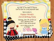 31 Best Blank Alice In Wonderland Invitation Template Templates by Blank Alice In Wonderland Invitation Template