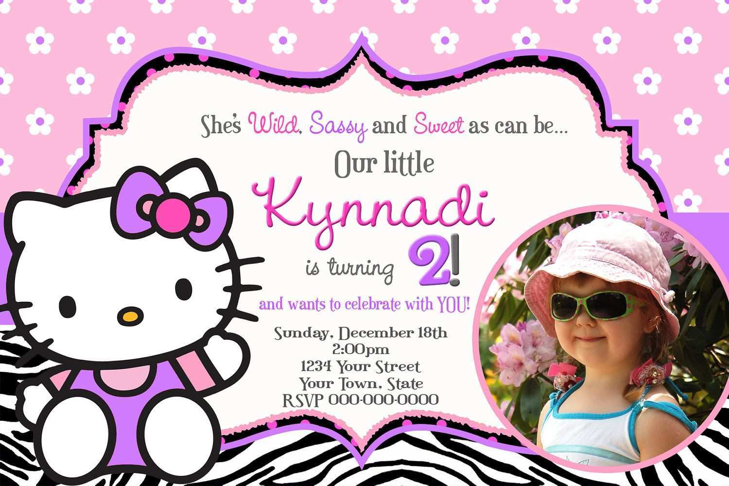 Fabulous 31 Best Hello Kitty Birthday Invitation Card Template Free Now By Funny Birthday Cards Online Fluifree Goldxyz