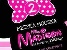 31 Best Minnie Mouse Birthday Invitation Template Now by Minnie Mouse Birthday Invitation Template