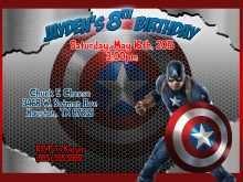 31 Blank Captain America Birthday Invitation Template Download with Captain America Birthday Invitation Template
