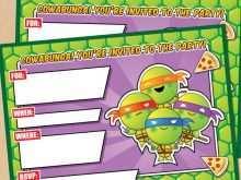 31 Blank Ninja Turtle Birthday Invitation Template For Free for Ninja Turtle Birthday Invitation Template