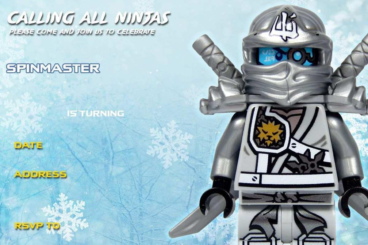31 Blank Ninjago Party Invitation Template Templates with Ninjago Party Invitation Template