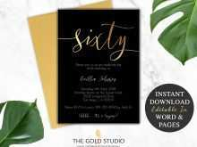 31 Create Birthday Invitation Template Black And Gold For Free by Birthday Invitation Template Black And Gold