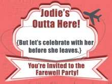 31 Creating Farewell Party Invitation Template For Free for Farewell Party Invitation Template