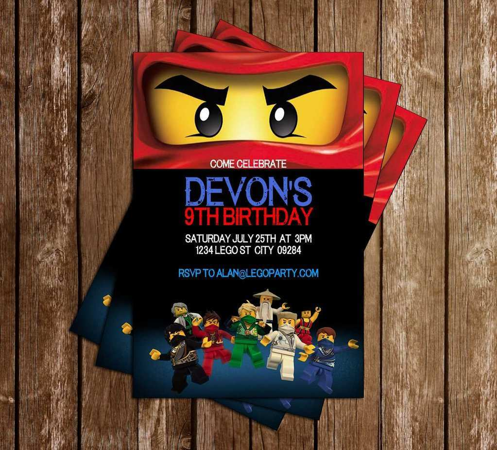31 Creative Ninjago Party Invitation Template Photo by Ninjago Party Invitation Template