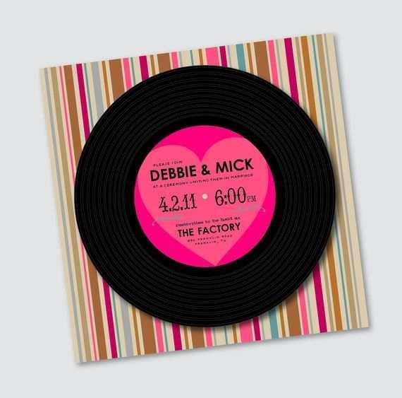 31 How To Create Vinyl Record Wedding Invitation Template For Free by Vinyl Record Wedding Invitation Template