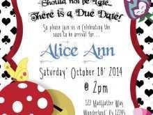 31 Standard Blank Alice In Wonderland Invitation Template Formating by Blank Alice In Wonderland Invitation Template