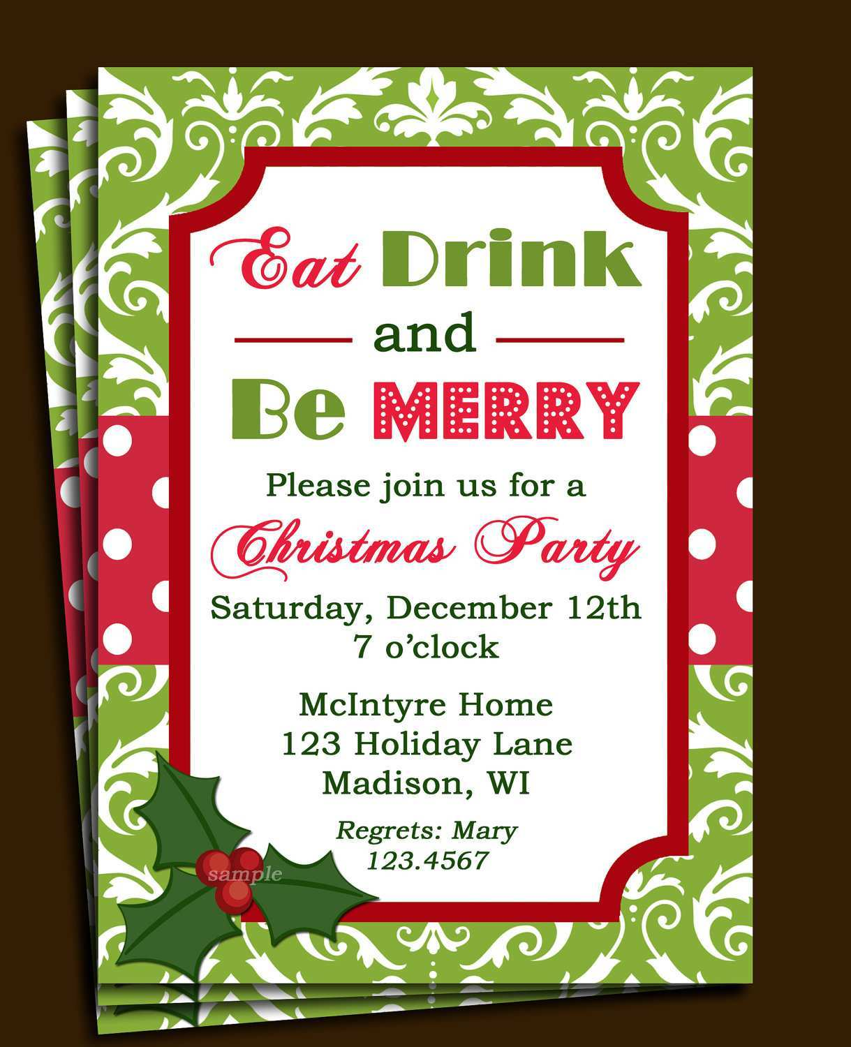 31 Standard Elegant Christmas Party Invitation Template Free Download Photo by Elegant Christmas Party Invitation Template Free Download
