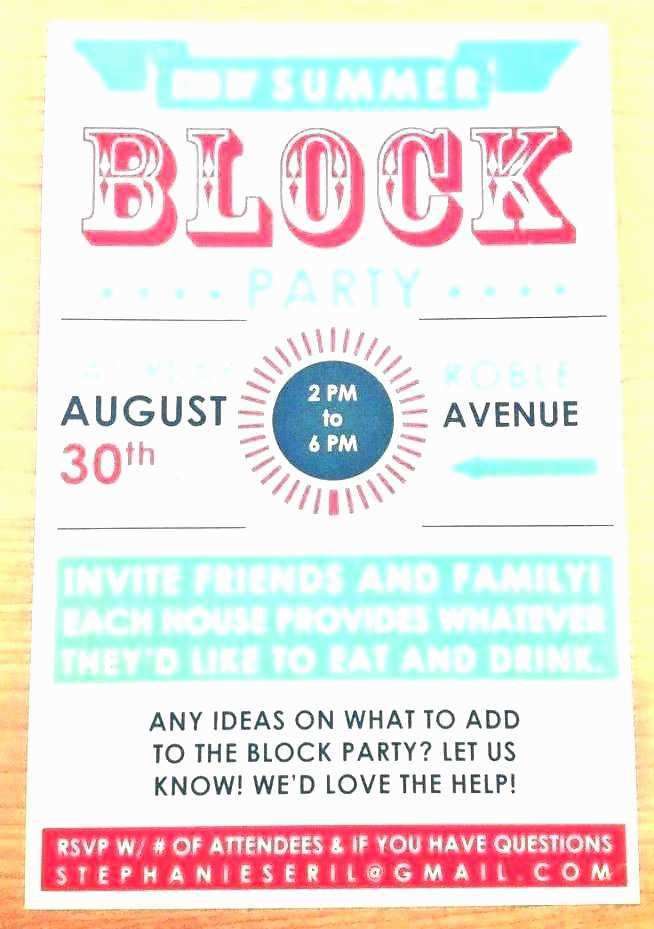 31 Visiting Block Party Invitation Template in Photoshop by Block Party Invitation Template