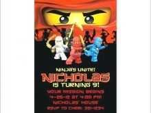 32 Best Ninja Birthday Party Invitation Template Free Photo for Ninja Birthday Party Invitation Template Free