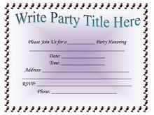 32 Blank Birthday Invitation Template Docx PSD File for Birthday Invitation Template Docx